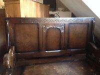 Antique Oak Monks Bench/chair.