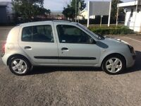 2003 RENAULT CLIO1.4 5 DOOR. MOT 24th March 2017