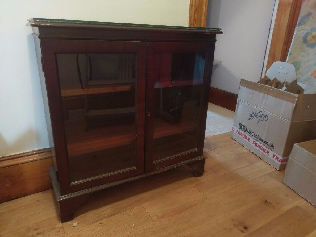Glass-fronted bookshelf/display cabinet - free for collection
