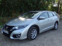 Honda Civic 1.6 i-DTEC SE Plus Tourer Estate SILVER 5dr DIESEL NAV, 1 OWNER , CAT S DAMAGED SALVAGE