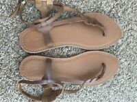 Real leather new look sandals, tan color, size 6 / 39. As new