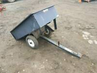 Ride on lawn mower small quad agrifab tipping trailer