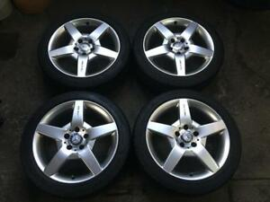 "MERCEDES-BENZ B-CLASS 17"" AMG ORIGINAL OEM 2005-2011 - LIKE NEW TIRES GOODYEAR EAGLE SPORT ZR - SUMMER WHEEL KIT"