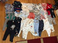 Boys baby grows/ sleep suits