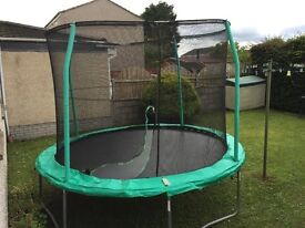 10 FOOT TRAMPOLINE WITH SAFETY NET & INSTRUCTIONS