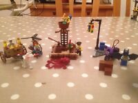 3 Lego sets, monster fighters, Pirates and super heroes