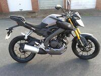 Yamaha 125 MT, ABS. 2016 reg. £2750 ONO