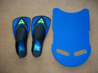 Aqua Sphere Flippers with KickBoard