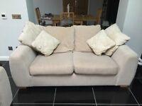 Cream DFS 2 seater sofa