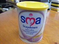 SMA Staydown, Anti-reflux, baby milk from birth unopened