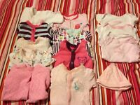 Girls clothes bundle- tiny baby