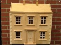 Wooden Dolls House with Accessories Furniture