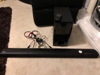 Lg sh2 soundbar and subwoofer, bluetooth, optical, lg tv, remote
