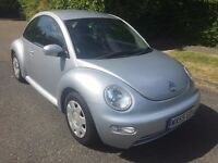BEETLE 1.6 55 REG IN SILVER ONLY 77,400 MILES WITH SERVICE HISTORY AND MOT JAN 2018