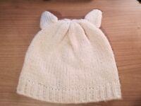 Cream Topshop winter hat