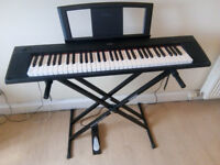 Yamaha Piaggero NP-11 keyboard, pedal and stand for £100, hardly used