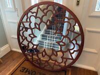 Solid wood designer mirror