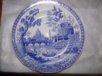 4x Spode Blue Room Collection Dinner Plates All in Mint Condition