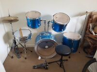 Full drum kit for sale un wanted xmas present just taking up space