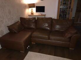 Next leather Sofa x 2