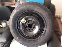 Nissan Qash Qai 2010 space saver spare wheel