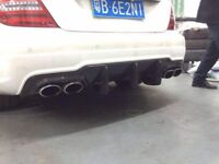 Mercedes C63 W204 Facelift Carbon Fibre Big Fin Diffuser