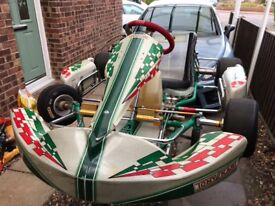 Tkm4 20hp 200cc racing go kart tonykart evxx racing chassis in superb condition