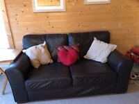 Next Leather Sofas - 2 seater and 3 seater v good condition 4 years old