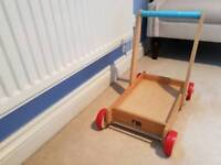 Wooden Mothercare Baby Stroller / Walker