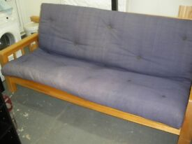 HARDWOOD FUTON at Haven Housing Trust's charity shop