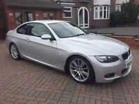 BMW 3 SERIES 335D M SPORT COUPE. AUTOMATIC. 2007. 283 BHP! FULL BLACK LEATHER INTERIOR. CAT D