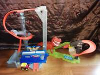 Chuck & Friends Tornado Tower & Hotwheels Dino take down. Excellent condition.