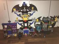 Imaginext bundle batman (transforming cave bay cave Gotham jail + Figures)