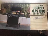 Tesco 4 burner gas BBQ with side Burner