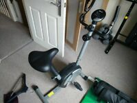 Exercise bike with computer and gears