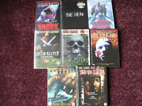DVD's x 8. HORROR MOVIES. SEE IMAGES FOR TITLES