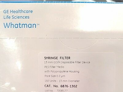 Whatman 6876-1302 Polyethersulfone Gdx 13 Syringe Filter 13mm 0.2 Micron ...