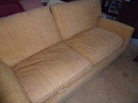 Large 3 Seat Oat Meal Sofa Delivery Available £15