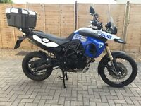 BMW F800gs Trophy model in stunning desert blue and alpine white