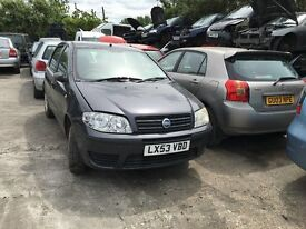 2003 FIAT PUNTO 8V ACTIVE (MANUAL PETROL)- FOR PARTS ONLY