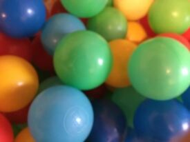 Soft play plastic balls