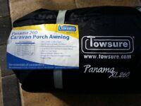 Towsure Panama xl260 Awning. Charcoal. Suitable for Motorhome or Caravan