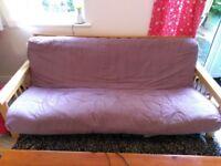 Folding frame futon sofa bed, decent condition