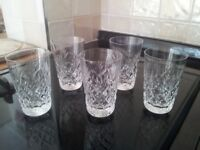 Vintage crystal glasses