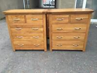 Ex-display**Solid oak chest of drawers ONLY £215 each - BARGAIN!!!