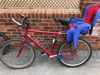 Raleigh max men's bike with childs seat