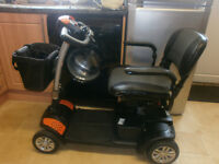TGA ECLIPSE CAR BOOT SIZED MOBILITY SCOOTER WITH NEW BATTERIES FITTED, CARRIES 18 STONE 10 MILES