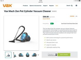 Vax zen pets vacume cleaner- used with some signs of cosmetic wear