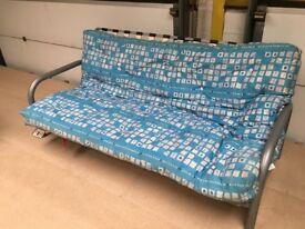 Metal Futon frame and mattress