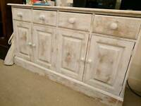 Large solid pine sideboard unit